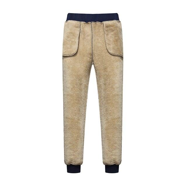Men's Winter Pants Classic brand sweatpants super Warm Thick Pants cashmere Trousers For Men fleece Male long outdoors Pants men 3
