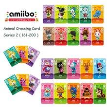 Пересекая серии проездных карточек животных 2 (161-200) фигурки amiibo карты для переключателя 3дс игры НС новые горизонты фигуркой животного карта