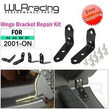 Envío gratis 2 uds soportes de bisagra + 8x tornillos guantes de calidad caja tapa bisagra enganchado Kit de reparación para Audi A4 B6 B7 8E 2001-2008
