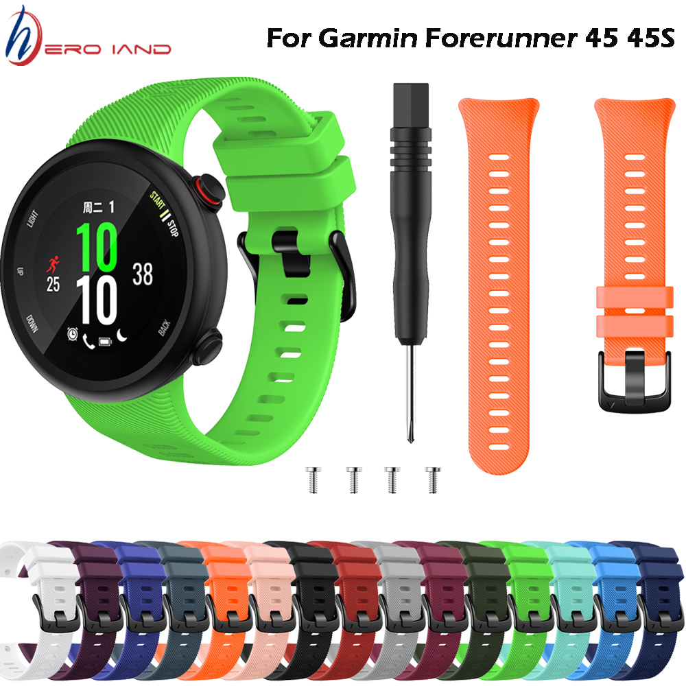 15 Colors Wristband Band Strap For Garmin Forerunner 45 45S Silicone Replacement Smart Watch Fashion Watch Strap Accessories
