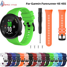 15 colors Wristband Band Strap for Garmin Forerunner 45 45S Silicone Replacement Smart watch Fashion watch strap accessories(China)