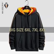 Hoodies masculinos camisolas 5xl 6xl 7xl 8xl plus size preto 68% algodão streetwear com capuz masculino 2020 primavera outono hip hop