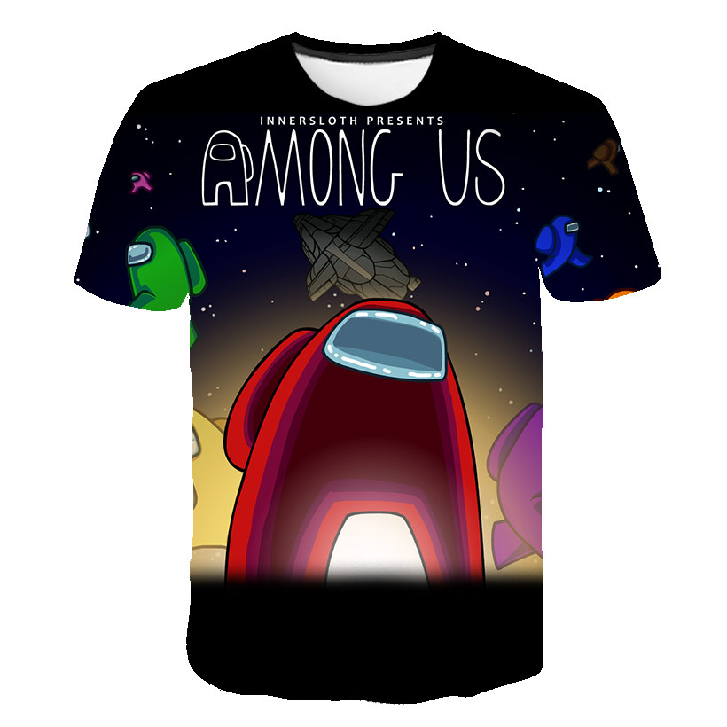 New 3D Printed t shirt Game Among Us T-shirt Short Sleeve Kids Boys Girls Casual Tops Tees Toddler Children's Clothing 4T-14T 1