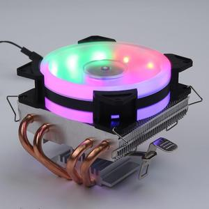 4 Copper Heatpipes CPU Cooler Radiator Cooling Fan Cooler Quiet Cooling Fan Heatsink Radiator for A-MD I-ntel 1150 1151