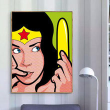 HD Print Painting Wonder Woman Home Decor Superhero Canvas Poster Cartoon Modular Pop Culture Pictures Modern Bedroom Wall Art(China)
