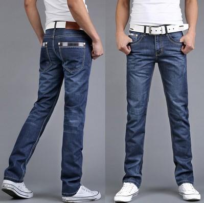 Men's Wear Directly Jeans Male Directly Canister Cowboy Black Long Pants Soild Color Denim Cotton Hip Hop Loose Trousers