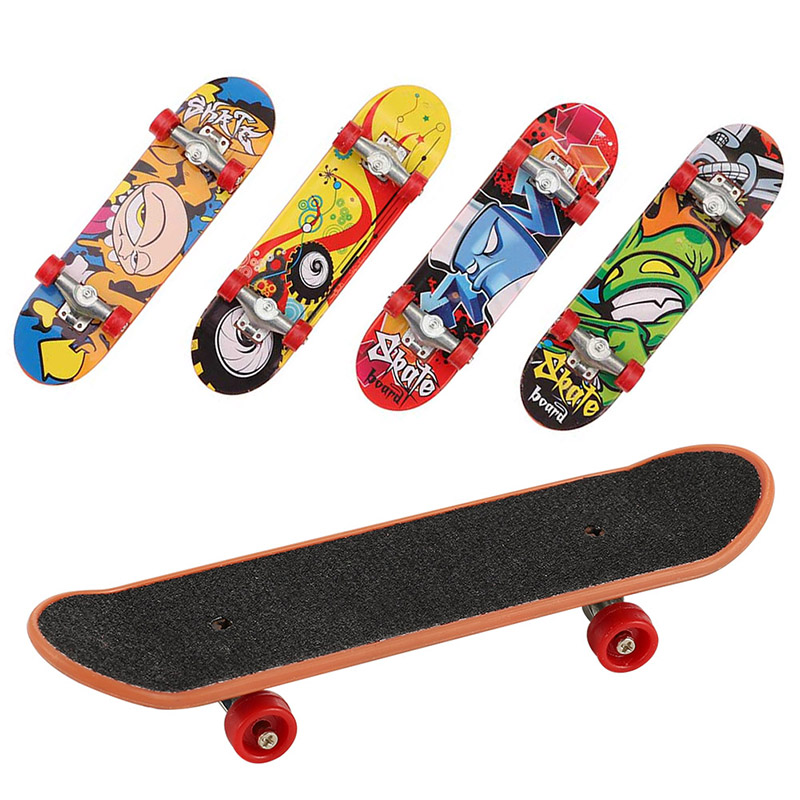 1 Pc Cute Party Toy Kids Children Mini Finger Board Fingerboard Alloy Skate Boarding Toys Gift Color Random