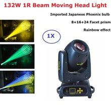 Stage Light Rainbow Effect 1R 132W Moving Head Beam 8+16+24 Prism For Dj Lighting Wedding Disco KTV Lasershow