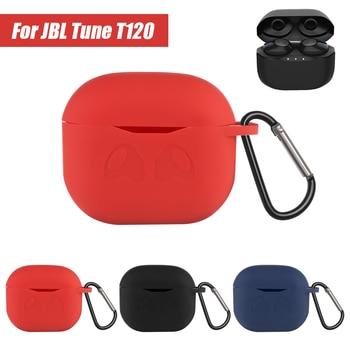 Auriculares inalámbricos Bluetooth de silicona, Carcasa protectora para JBL T120 TWS, accesorios para auriculares anticaídas