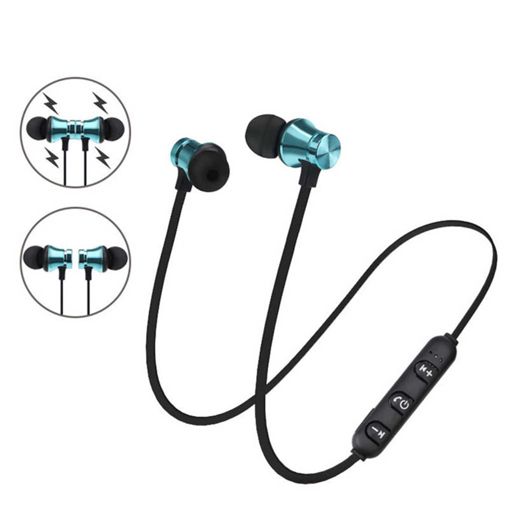 XT11 Bluetooth 4.2 In-Ear Headset Hands-Free Kebisingan Pengurangan Olahraga Menjalankan Kabel Earphone dengan MIC