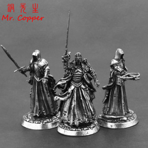 Middle Ages Legion Wraith Soliders Model Toy Figurines Miniatures Pure Copper Men Gifts Desktop Ornament Decoration Crafts Metal