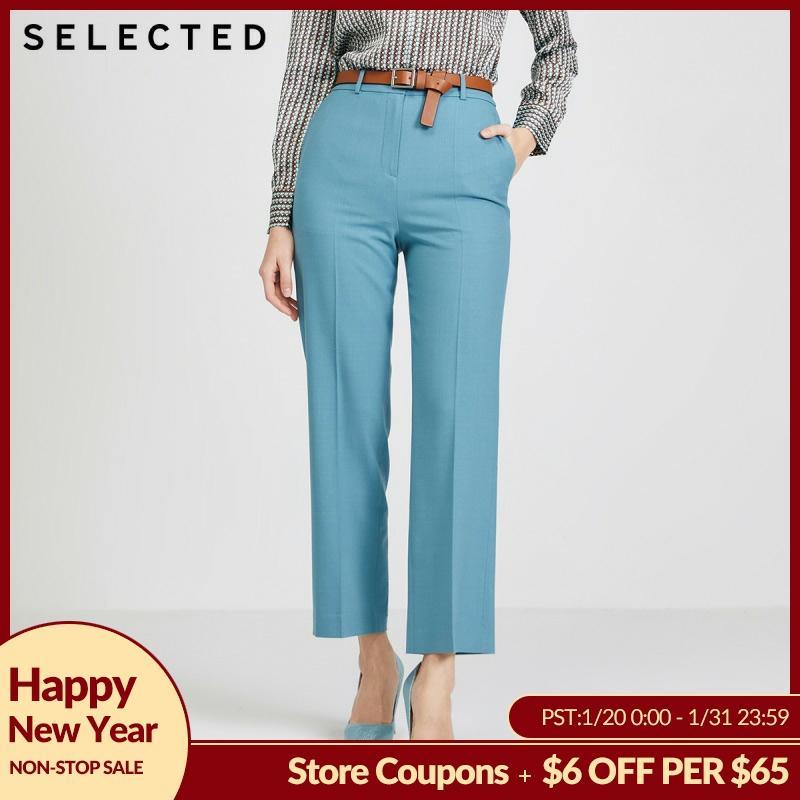 SELECTED Women's Straight Fit Woolen Suit Pants S|420114505