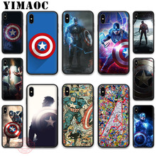 YIMAOC Marvel Hero Captain America First Avenger Shield Soft Silicone Case for iPhone 11 Pro XR X XS Max 8 7 6Plus 5S SE 7Plus