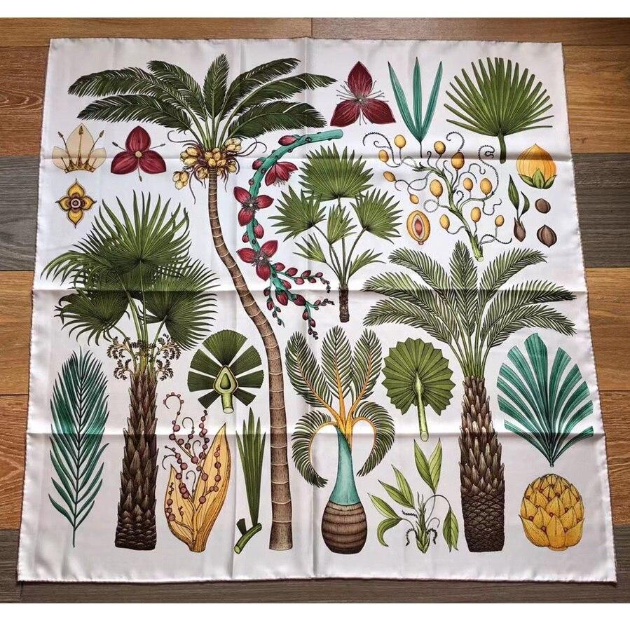 Fashion Print 100% Twill Silk Scarf Shawl Wraps 88*88cm