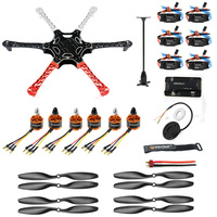 Dron teledirigido F550 de 6 ejes, Motor sin escobillas, 550mm, sin montar, con controlador de vuelo PIX, 920KV, GPS, 30A, ESC 1045 hélice