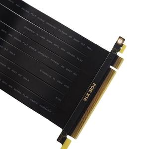Image 3 - Cable de extensión de elevador inverso PCI E x16 3,0 macho a hembra, tarjeta gráfica, extensor 16x PCI Express, línea de cinta 128G/bps
