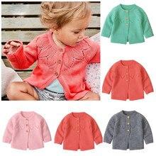 Малыша Зимняя Одежда для маленьких девочек; свитер для мальчиков кардиган, вязаный свитер, вязаный пуловер толстовка для мальчиков vetement bebe fille hiver# A10