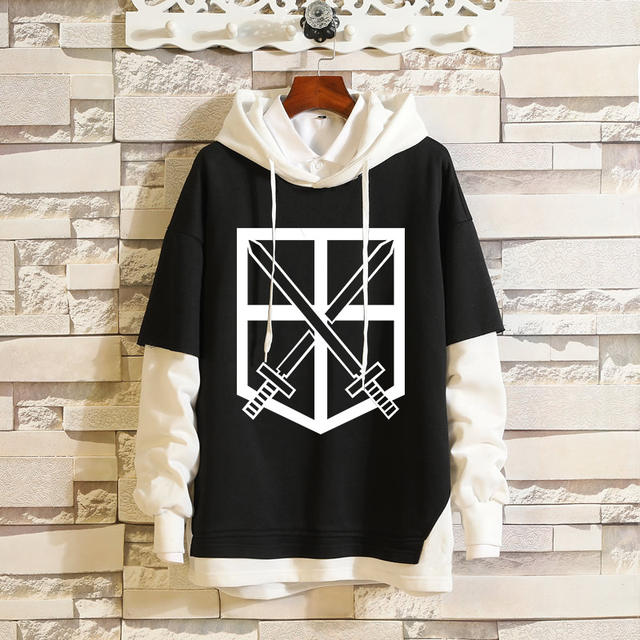 ATTACK ON TITAN THEMED PULLOVER HOODIE (15 VARIAN)