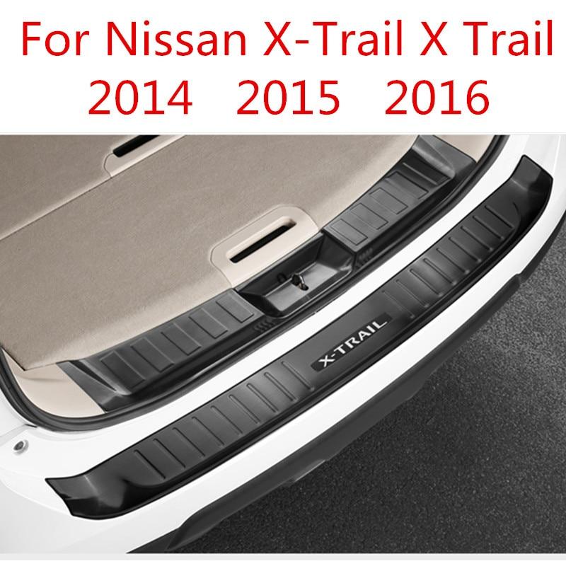 Rear Bumper Protection Vinyl Black Carbon Fibre Style for Nissan X-Trail T30