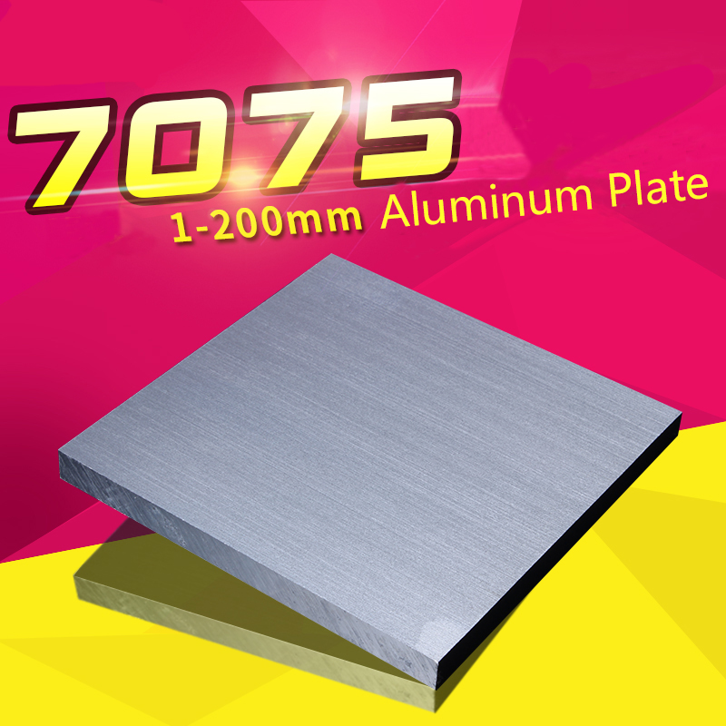 7075 Aviation Aluminum Alloy Plate Sheet Thicked Super Hard Block Thickness 15/20/25/30mm CNC Lathe Processing 100*100/150*150mm