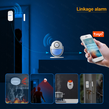 KERUI Tuya Smart Home Security WIFI Alarm System Works With Alexa 120dB Motion Detector Door Sensor Surveillance Camera 4