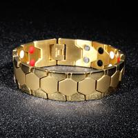 OPK personality titanium steel hegemonic magnet Bracelet fashionable men's bracelet accessories