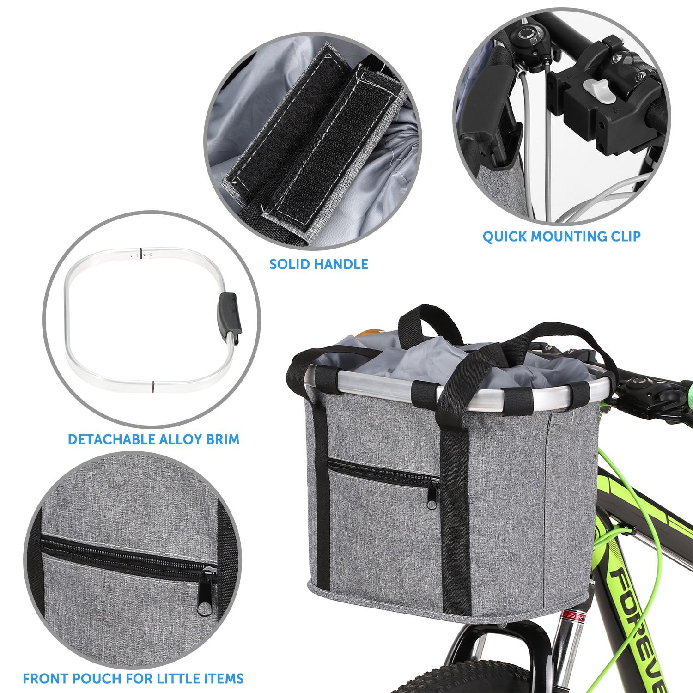 de alumínio para bicicleta, bolsa frontal para