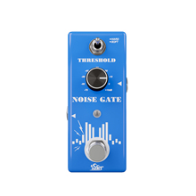 ISET Noise Gate Noise Reduction Suppressor Guitar Effect Pedal 2 Modes True Bypass Aluminum Alloy Shell Guitar Accessories