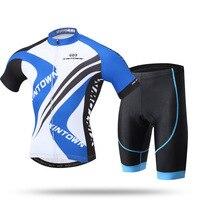 Xintown manga curta ciclismo terno novo estilo ciclista casaco curto conjunto verão roupas de secagem rápida|Camisetas p/ ciclismo| |  -