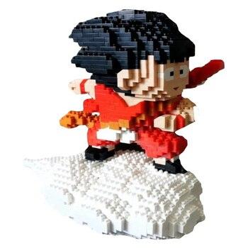 20cm de Dragon Ball Z Super Saiyan Goku Vegeta Krillin Chiaotzu Tien Shinhan Bardock de juguete bloque de construcción Legoinglys