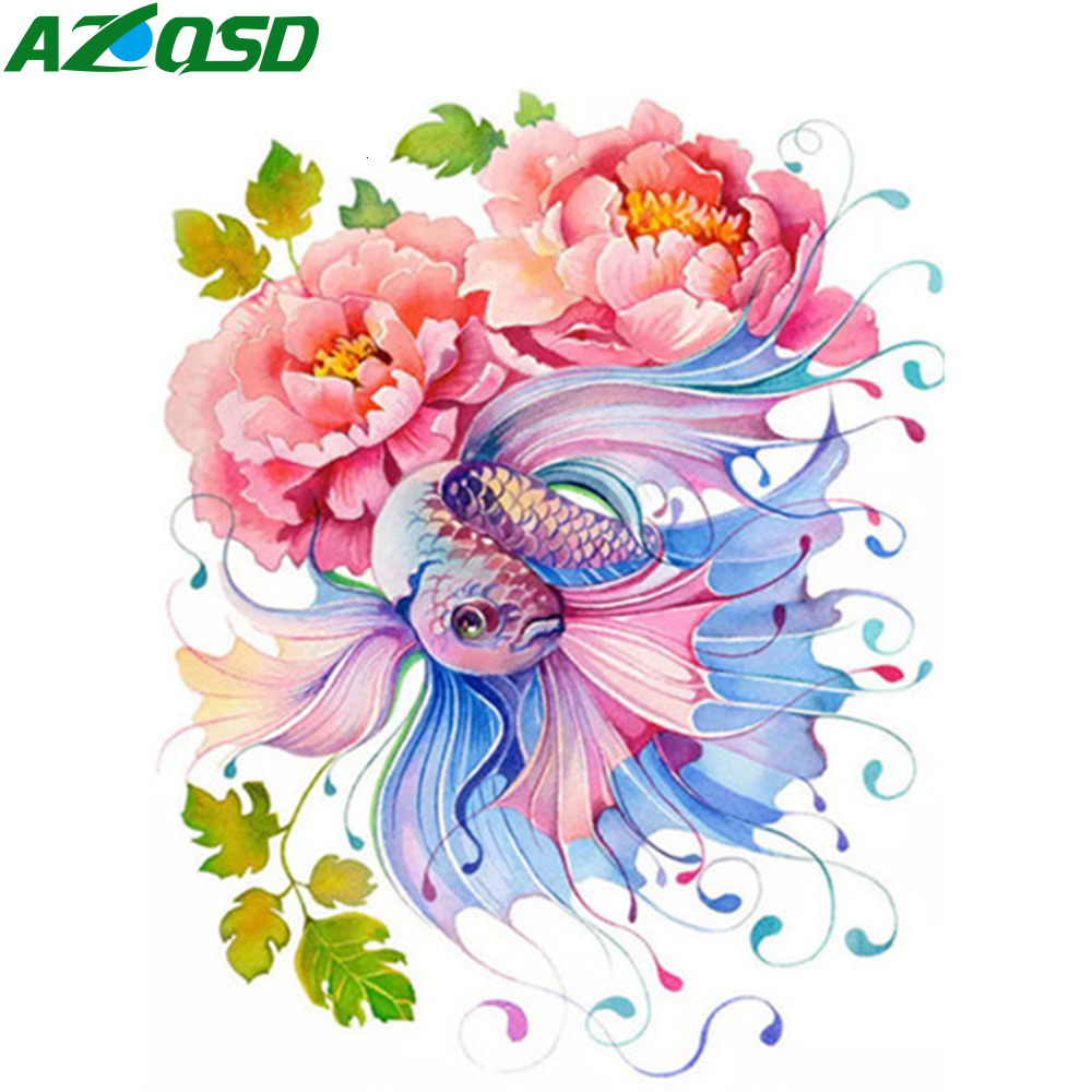 AZQSD Paint By Numbers For Adults Flower DIY Pictures By Numbers Abstract Art 40X50cm No Frame Acrylic Paint Home Decoration