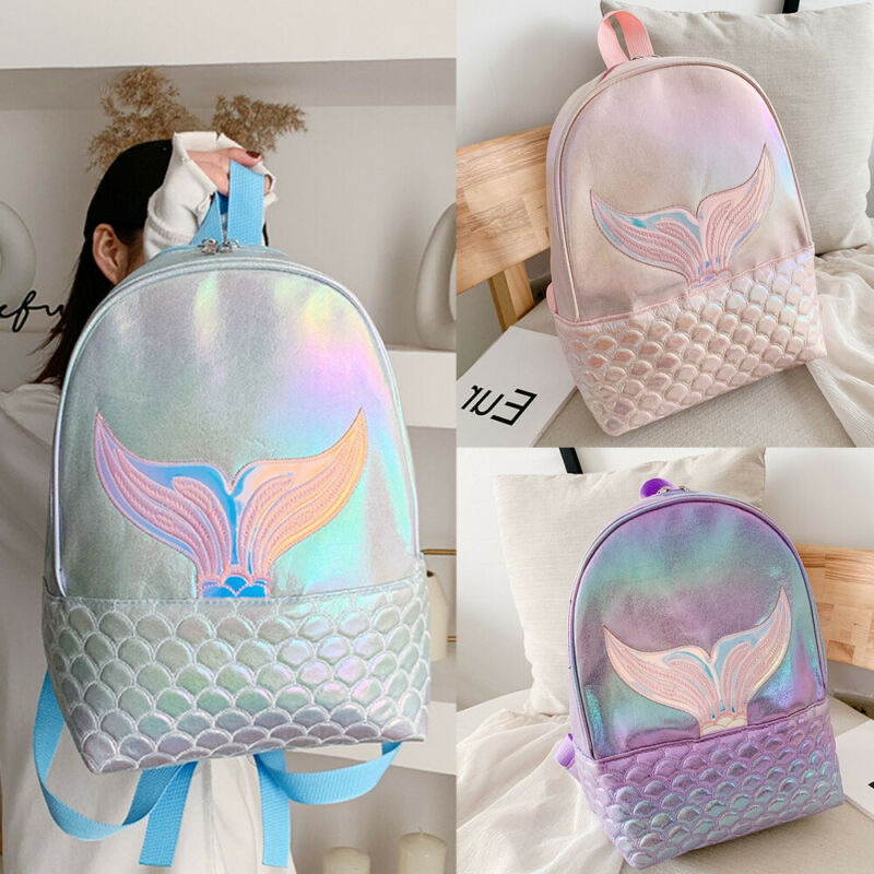 2020 Newest Hot Women Girls Glitter Bags Mermaid Backpack Girl School Book Shoulder Bag Rucksack PU Laser Backpacks Travel