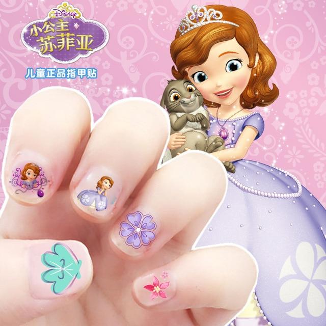 Dzieci mrożone Elsa Anna makijaż zabawka naklejka do paznokci Disney śnieżka księżniczka Sofia Mickey Minnie dzieci naklejki dziewczyny prezent
