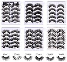 NUOVO 1/5/10 pairs Mink Capelli Ciglia Finte Soffici/Lungo Spesso Ciglia Wispy Natural Eye strumenti di trucco di Bellezza Faux Eye Lashes