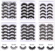 Yeni 1/5/10 çift vizon saç sahte kirpikler kabarık/kalın uzun göz Lashes Wispy doğal göz makyaj güzellik araçları sahte göz Lashes