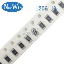100pcs 1206 1% SMD resistor 1/4W 2.55K 2.61K 2.67K 2.7K 2.74K 2.8K 2.87K 2.94K 3K 3.01K 3.09K 3.16K 3.24K 3.3K 3.32K 3.4K ohm