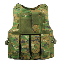 711D Molle Army Combat Tactical Vest US Soldier Military Uniform Camouflage Vests Men Pocket Paintball Airsoft Nylon Vest(China)