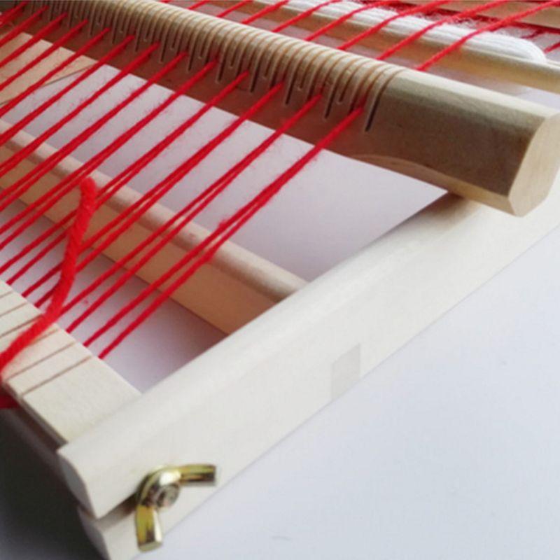Мини детский деревянный ткацкий станок комплект ручной Вязание машина для детей R7RB