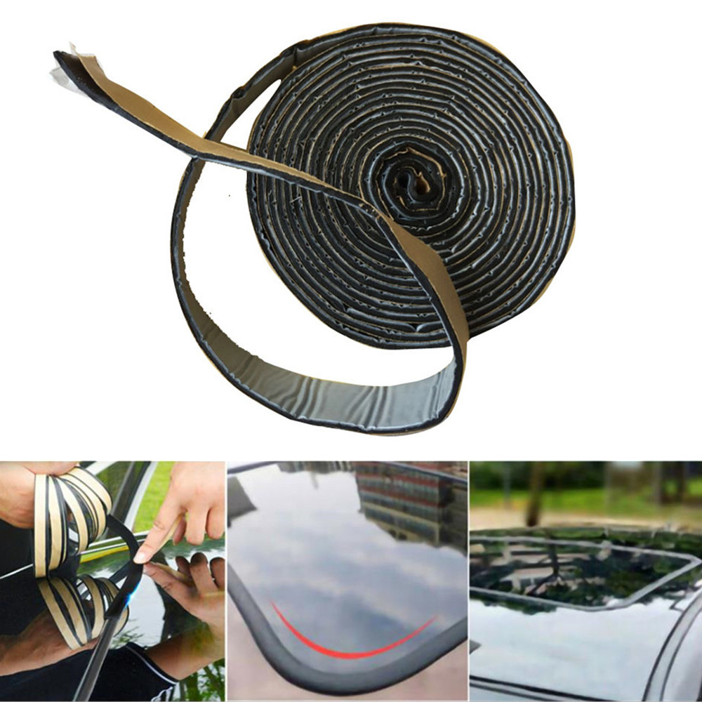 Black Butyl Rubber Glue Car Headlight Sealant Retrofit Reseal Hid Headlamps Tail Light Shield Glue Car Soundproof Dustproof Tape