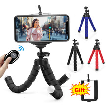 Mini Tripod Camera Octopus Sponge Smartphone Bluetooth-Shutter Remote Flexible Portable