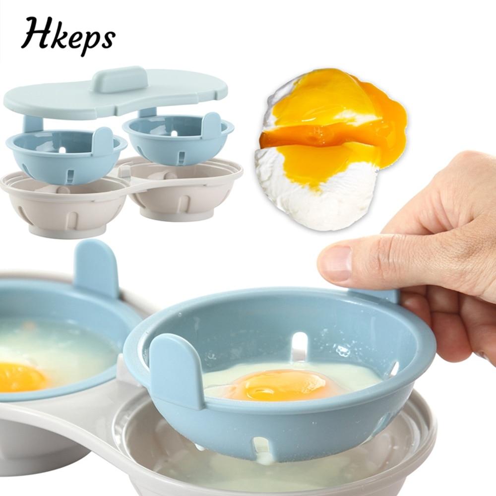 pan Antiadherente taza de huevo Caldera de cocción con tapa de plástico 4 Tazas De Huevo Escalfador Pan escalfados.