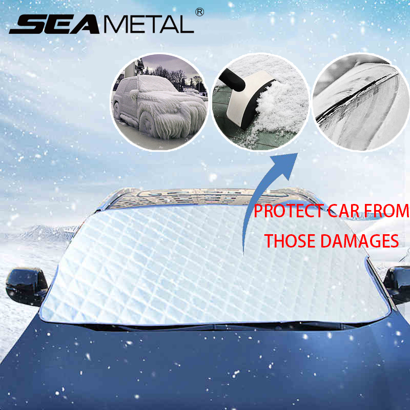 Windshield-Covers Protective-Accessories Car-Snow-Cover Auto Anti-Uv Winter Exterior