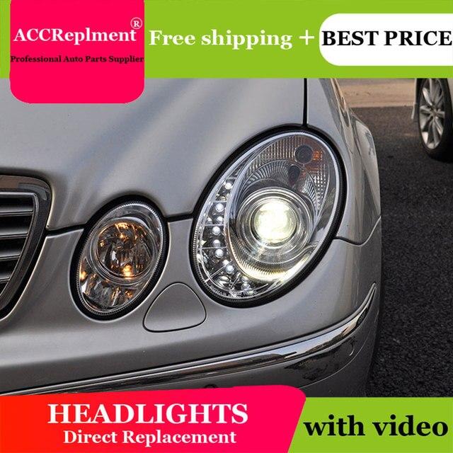 For Benz W211 2003 2009 Headlights All LED Headlight DRL Dynamic Signal Hid Head Lamp Bi Xenon Beam Accessories Car Styling
