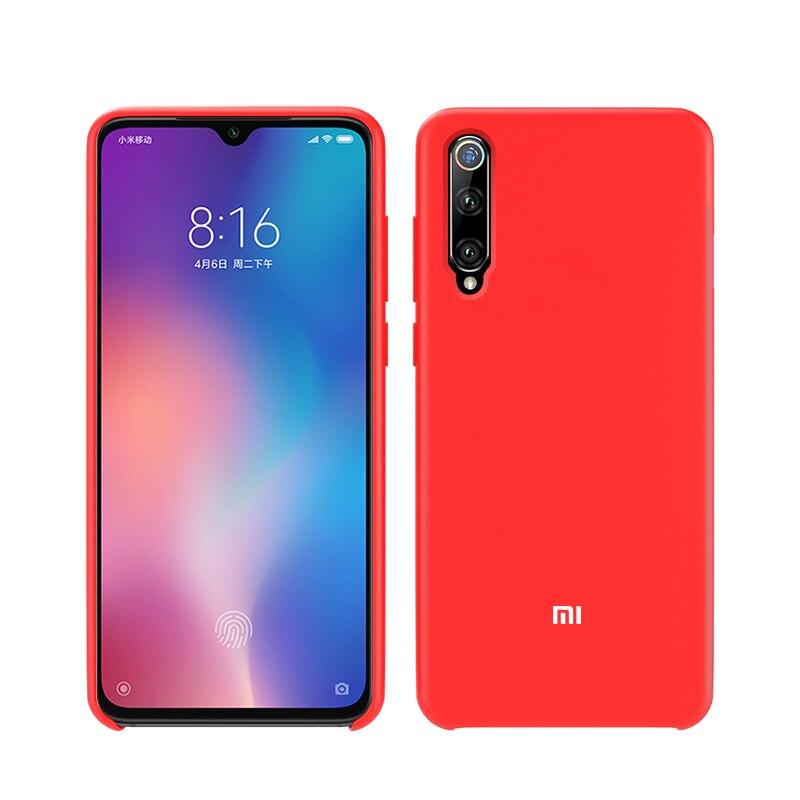 Xiaomi Official Original Silicone Case Xiaomi Mi 6 8 9 SE Lite 9T A2 6X Mix 3 Redmi Note 5 6 7 8 K20 Pro 6A 7A Case Cover