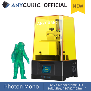 ANYCUBIC Photon Mono 3D Printer 4.5Kg UV Resin Printers with 6 inch 2K Monochrome LCD Screen & Fast Printing Speed 130x80x165 mm