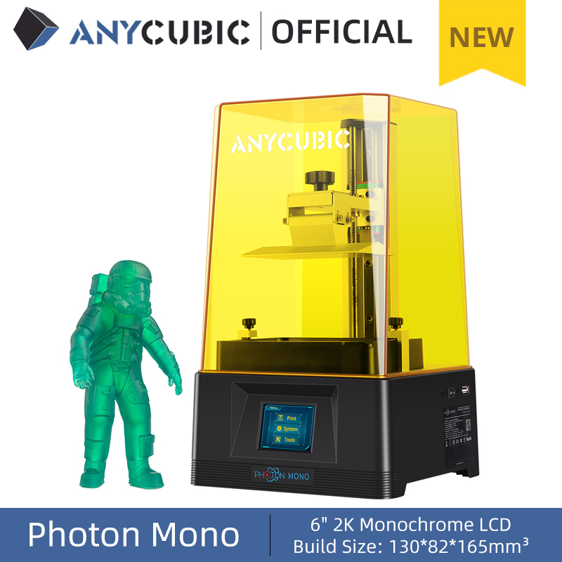 ANYCUBIC Photon Mono 3D Printer 4 5Kg UV Resin Printers with 6 inch 2K Monochrome LCD Screen  amp  Fast Printing Speed 130x80x165 mm
