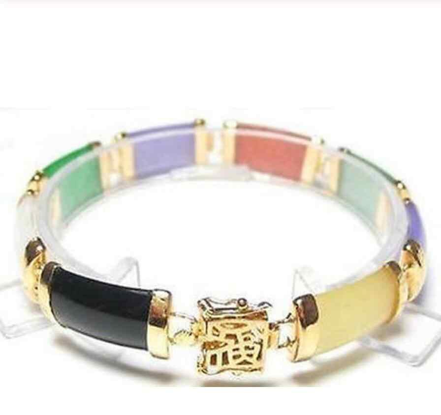 Mode-sieraden Gratis Verzending Mooie-Prachtige-Multi-Kleur-Selling Jadeïet-Fortune-Armband> Dongguan meisje Jewerly Winkel Fre