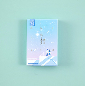 L199- Blue Sky Paper Greeting Card Lomo Card(1pack=28pieces)