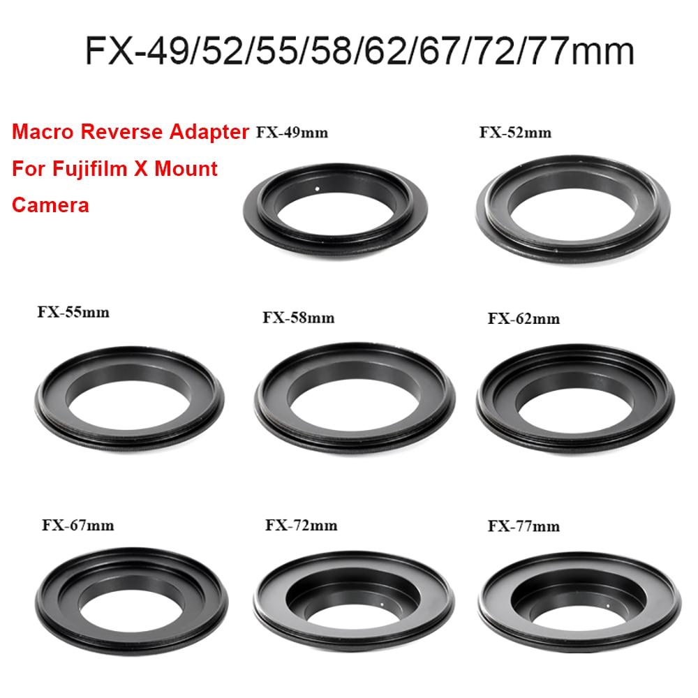 LingoFoto макро объектив Обратный адаптер кольцо 49/ 52/ 55/ 58/ 62/ 67/ 72/ 77mm-FX для Fujifilm X-Mount Camera XT20 XT30 XT4 и т. д.