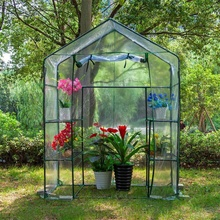 143x73x195cm PVC DIY Walk-in Greenhouse Plant Cover Home Outdoor Flower Plant Ga